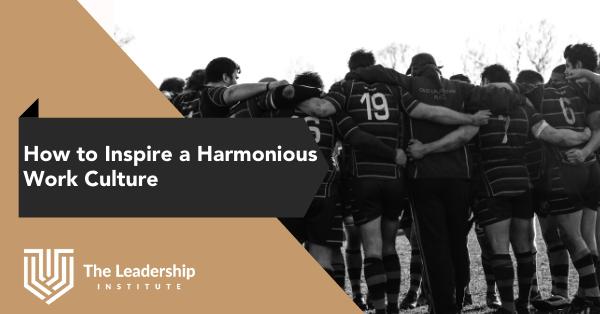 How to create a harmonious team culture