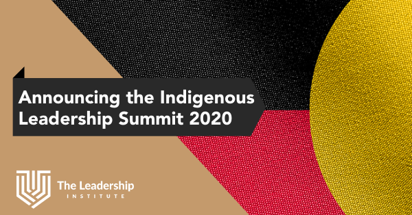Announcing Indigenous Leadership Summit 2020