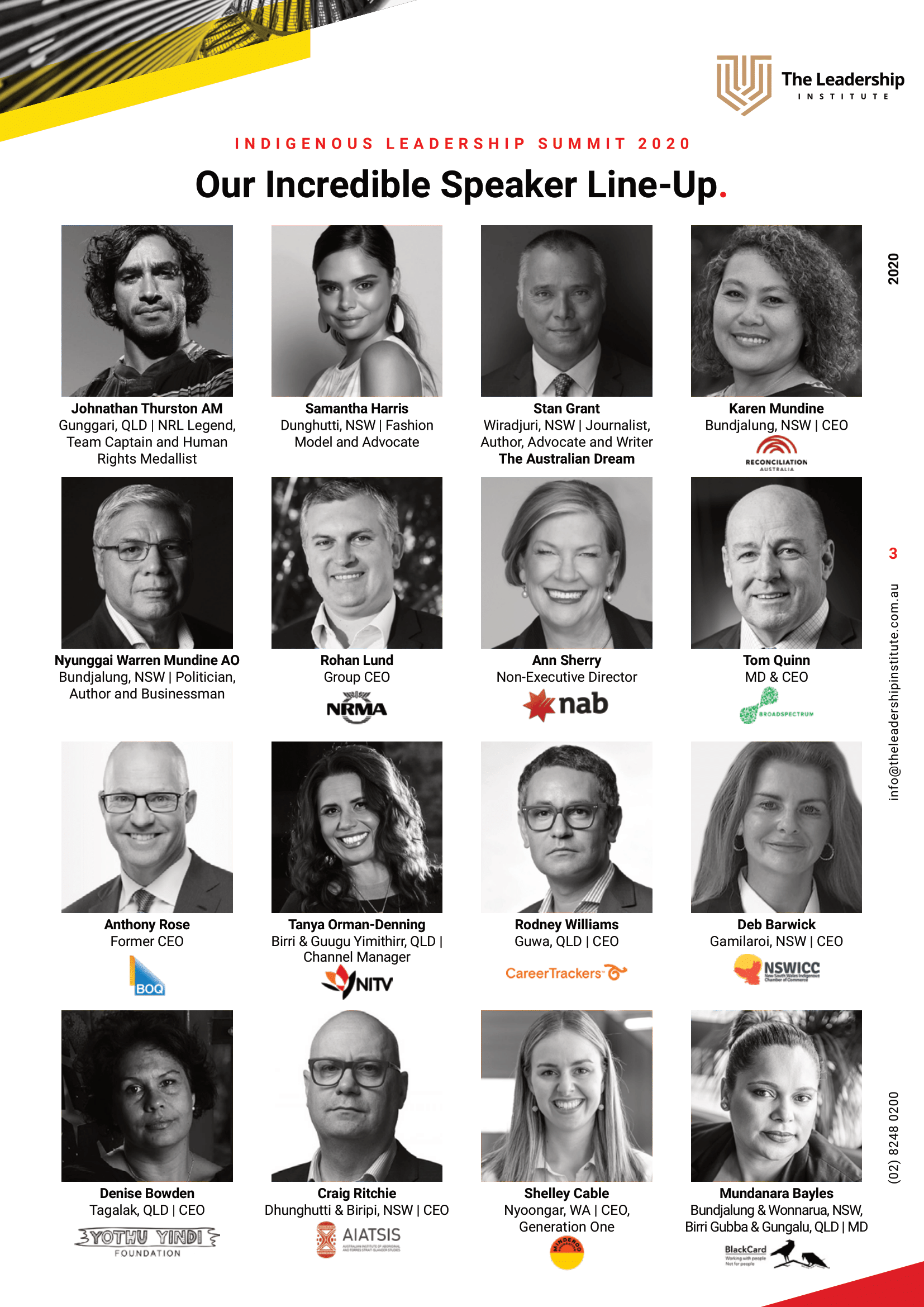 Indigenous Leadership Summit Speakers